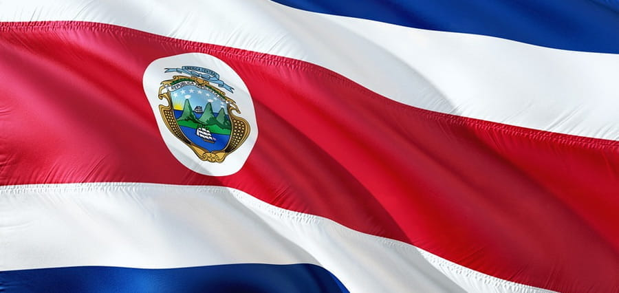 The flag of Costa Rica.