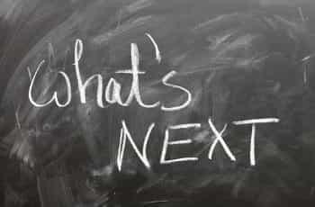 What's next written on a blackboard.