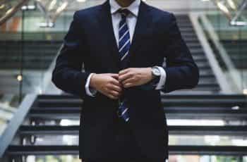 A businessman in a suit.