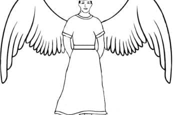 A line drawing of Daedalus.