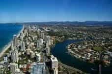 Gold Coast city panoramic view.