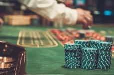 A casino table.