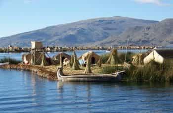 The coastline of Lake Titicaca.