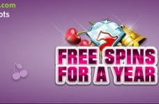 The Free Spins for a year promotion from SlotsMagic.