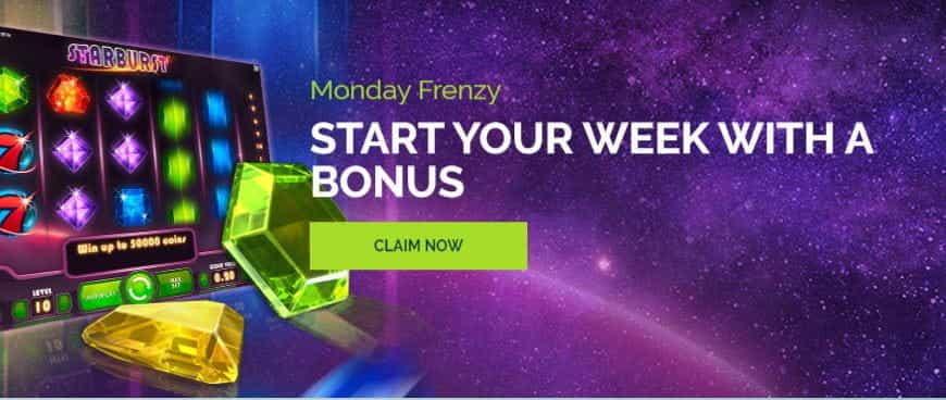 The WixStars Monday Frenzy bonus.