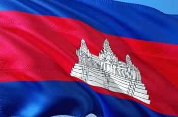 Cambodia flag.