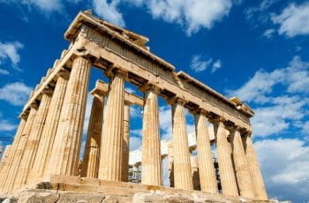 The ancient Parthenon in Athens.