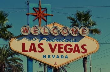The iconic Las Vegas Nevada welcome sign.