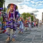 A street parade in Mexico.