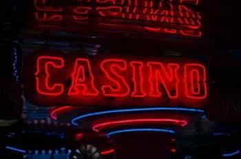 Red neon casino sign.
