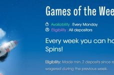The Games of the Week bonus from Sloty Casino.