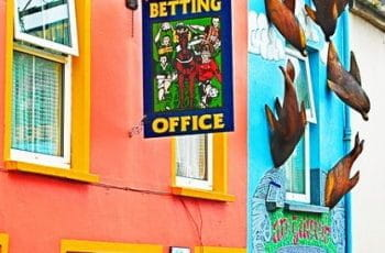 The outside of a betting shop.