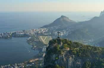 The coastline in Rio de Janeiro, Brazil.