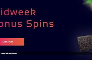 The Midweek Bonus Spins promo from Klasino.