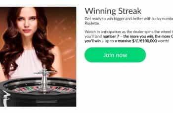 The Winning Streak promotion at Mansion Casino.