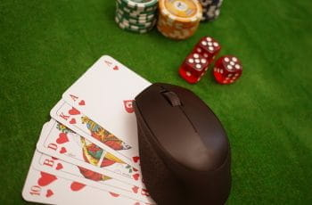 Poker chips and cards.