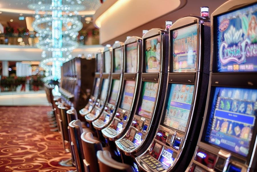 Slot machines in the hall.