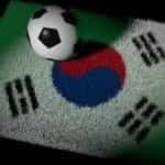 Football on South Korea carpet.