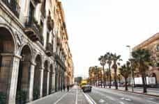 A promenade in Barcelona, Spain.