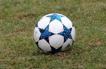 The football used in Champions League games.