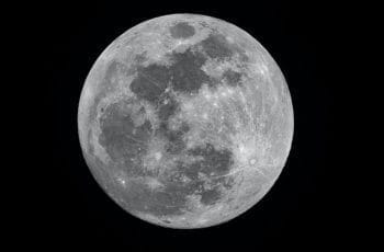 The moon, in black and white.