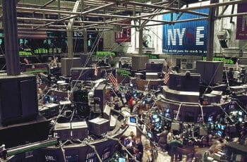 The floor of the New York Stock Exchange during trading.