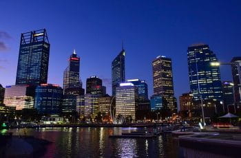 Perth skyline in the downtown district.