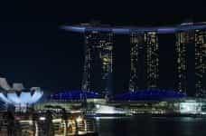 Singapore skyline Marina Bay Resorts.