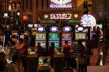 Macau casino floor.