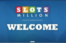"The SlotsMillion logo and the word ""Welcome""."