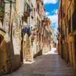 A sunny alley in Cataluña, Tarragona, Spain.