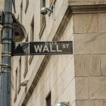 The street sign of Wall Street, New York.