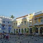 A public square in Cartagena, Colombia.