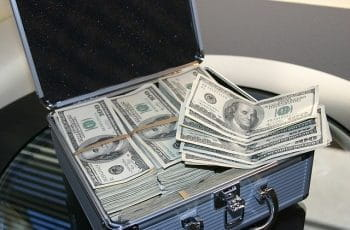 Cash in briefcase.