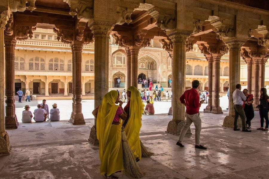The Amber Fort in Amer, India.