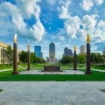 The World War I memorial in Indianapolis, Indiana.