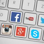 Social media app icons.