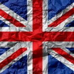 A British union jack flag.