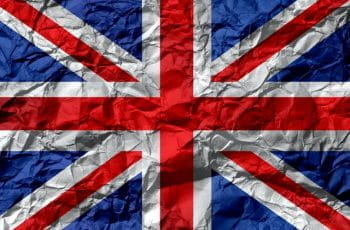 A British union jack flag.