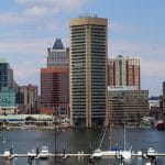 The harbor in Baltimore, Maryland.