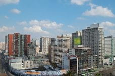 A sunny day in downtown Santiago, Chile.