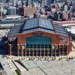 Lucas Oil Stadium in Indianapolis, Indiana.