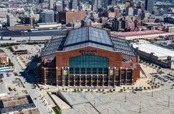 Lucas Oil Stadium in Indianapolis, Indiana.