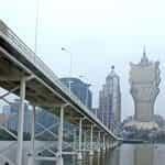 A bridge over the river in Macau.