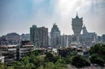 The skyline of Macau.
