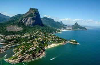The coastline of Rio, Brazil.