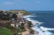 The coastline in San Juan, Puerto Rico.