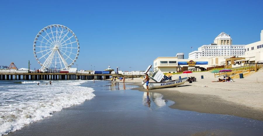The beach in Atlantic City, New Jersey.