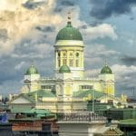 A church in the city of Helsinki, Finland.