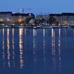 Sebuah marina di Helsinki, Finlandia.